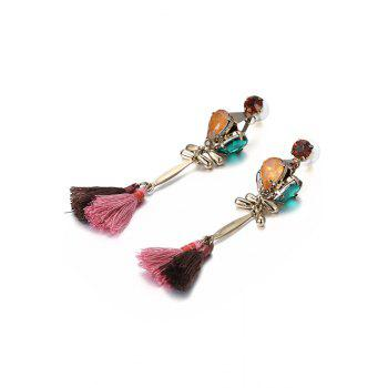Pair of Tassel Pendant Jewelry Earrings - COLORMIX