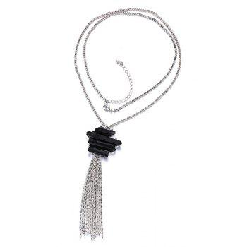 Chic Tassel Pendant Sweater Chain For Women -  SILVER