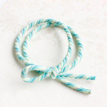 Cute Bowknot Double-Layer Elastic Hair Band For Women -  GREEN