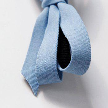 Trendy Solid Color Cloth Bowknot Hairgrip For Women -  LIGHT BLUE