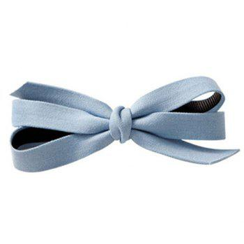 Trendy Solid Color Cloth Bowknot Hairgrip For Women - LIGHT BLUE LIGHT BLUE