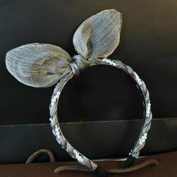 Cute Faux Pearl Rabbit Ear Shape Hairband For Women