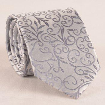Stylish Flower Rattan Jacquard 8CM Width Men's Light Gray Tie - LIGHT GRAY LIGHT GRAY