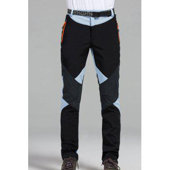 Buy Water-Repellent Fleeces Splicing Snow Pants Women WATER BLUE
