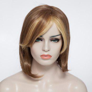 Fashionable Short Straight Women's Synthetic Capless Wig With Side Bang - COLORMIX COLORMIX