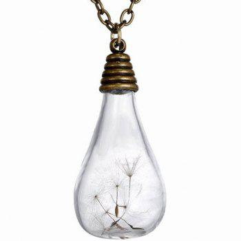 Stylish Glass Cover Dandelion Pendant Sweater Chain For Women