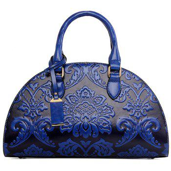 Retro Style Zip and Embossing Design Tote Bag For Women