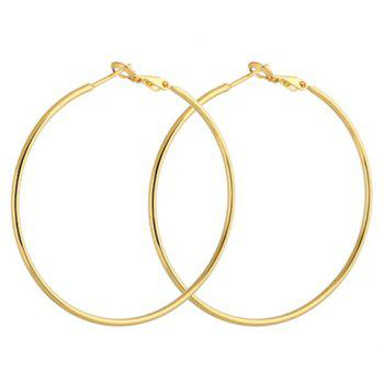 Pair of Polished Round Earrings