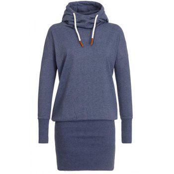 Stylish Long Sleeve Hooded Women's Hoodie Dress