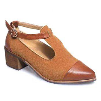 Vintage Solid Colour and T-Strap Design Women's Pumps For Women