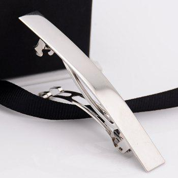 Stylish Solid Color Glaze Hairgrip For Women - SILVER SILVER