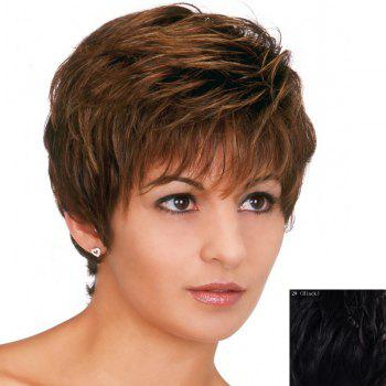 Shaggy Wave Ladylike Full Bang Capless Fashion Short Women's Real Natural Hair Wig