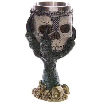 Cool 200ml Goblet Cup Skull Shape Design Stainless Steel Cup