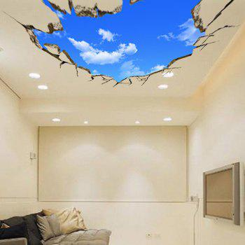 High Quality Blue Sky and White Cloud Pattern Removeable 3D Wall Sticker