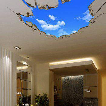 High Quality Blue Sky and White Cloud Pattern Removeable 3D Wall Sticker - AZURE