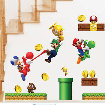 High Quality Cartoon Game Theme Waterproof Decorative Wall Sticker