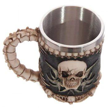 Cool Handled Skull Design 400ml Wine Coffee Tea Cup - COLORMIX
