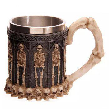 Cool 400ml Skeleton Design Stainless Steel Coffee Tea Cup