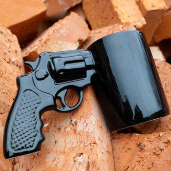 Special Revolving Pistol Design Black Coffee Tea Cup For Office