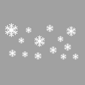 High Quality Removeable Snowflake Pattern Wall Sticks Christmas Decoration - WHITE