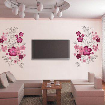 Creative 60*90cm Flower Pattern TV Background PVC Wall Stickers