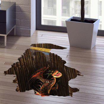 Dinosaur Pattern 3D Floor Wall Sticker Home Decoration