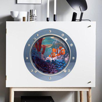 Good Quality Fish Pattern Submarine Shape Removeable 3D Fridge Wall Sticker