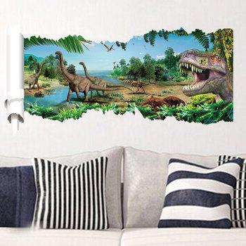 Good Quality Dinosaur Pattern Waterproof 3D Wall Sticker Home Decoration - COLORMIX