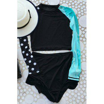 Women's Color Block Two-Piece Swimsuit - AS THE PICTURE M