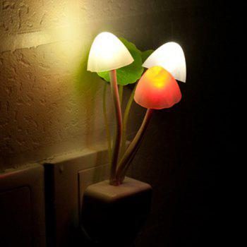 Creative Romantic Colorful Ombre Sensor LED Lotus Leaf Decor Mushroom Night Light
