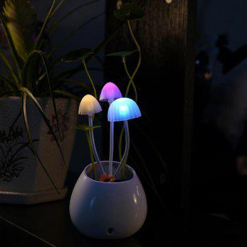 Chic Pot Culture Shape Colorful Ombre Sensor LED Mushroom Night Light