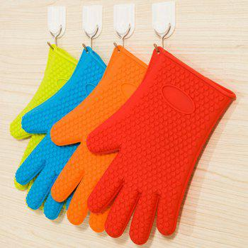 One Piece Heatproof Silicon Microwave Oven Glove