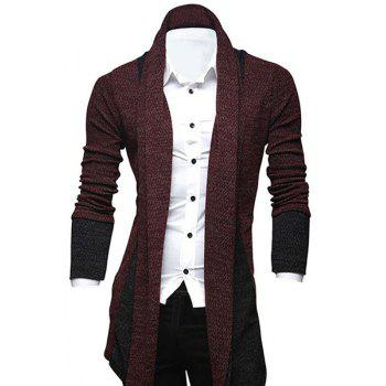 Long Red Cardigan Cheap Casual Style Online Free Shipping at ...