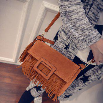 Stylish Buckle and Tassels Design Crossbody Bag For Women