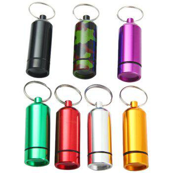 Portable Aluminum Alloy Pill Box with Keychain Drug Holder