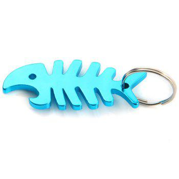 Fish Bone Shaped Bottle Opener Aluminum Alloy Made - 1PC 1PC
