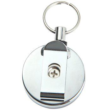 Stainless Steel Made Big Badge Reel with 60cm Metal Wire Rope - 1PC 1PC