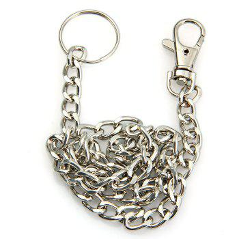 48cm Stainless Steel Anti-lost Chain with Keyring - 1PC 1PC