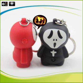 SANLIAN SL03097 Key Chain Ghostface Style Figure Key Ring with Light / Sound - COLORMIX COLORMIX