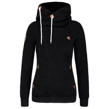 Sweatshirts Outerwear Side Zipper Design Women Hoodie Sweater Coat