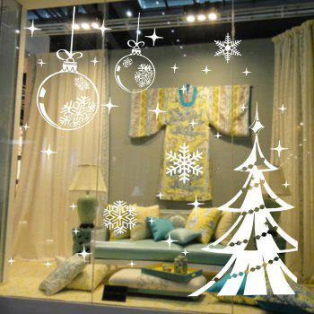 Christmas Tree and Snowflake Style Wallpaper Removable PVC Wall Stickers for Xmas Party Ornament
