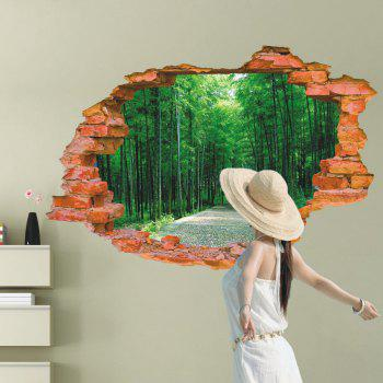 Avenue Path Style Creative 3D Wall Sticker Removable Wallpaper Water Resistant Home Art Decals