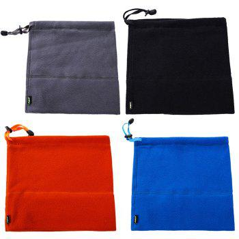 Qinglonglin Fleece Draw Cord Neckerchief Antistatic Strong Pure Color - BLACK