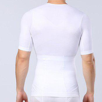 Men Body Shaping Underwear Slimming Cloth - WHITE XL T-SHIRT