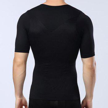 Men Body Shaping Underwear Slimming Cloth - BLACK XL T-SHIRT
