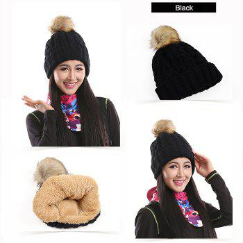 Marsnow NM09 Women Warm Bobble Hat Windproof for Cycling Skiing