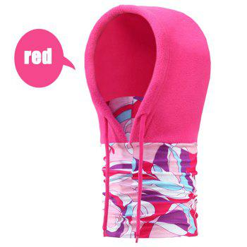 Cycling Anti-static Masked Hat + Kerchief Polar Fleece Made - ROSE RED ROSE RED