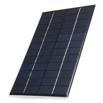4.2W 12V Polycrystalline Silicon Solar Cell for Making Experiments - BLACK BLACK