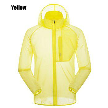 CHAOTA Outdoor Unisex Lightweight UV-resistant Skin Windbreaker - YELLOW YELLOW