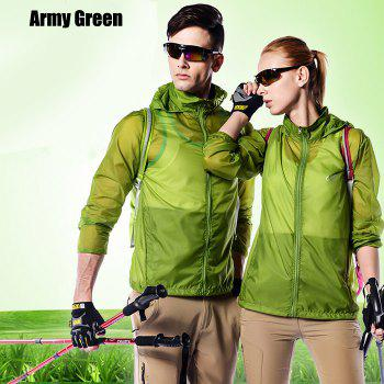 CHAOTA Outdoor Unisex Lightweight UV-resistant Skin Windbreaker - ARMY GREEN ARMY GREEN